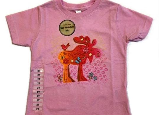 Pink Moose Toddler T-Shirt