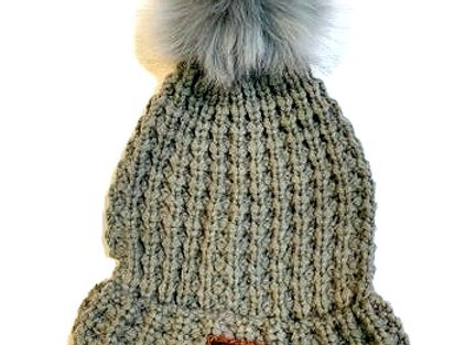 Stamped Mountains Knit Hat