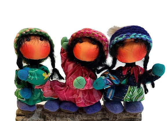 3 Small Girl Dupree Dolls