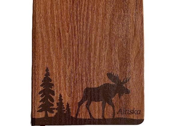 Wood Grain Moose Journal