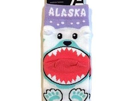 Bear Bite Heel Toddler Socks