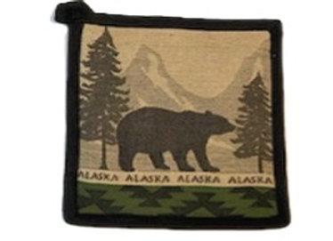 Mountain Bear Hot Pad