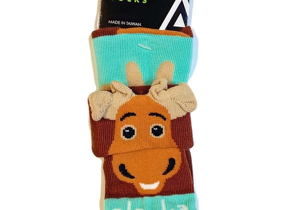 Fold-Over Moose Infant Socks