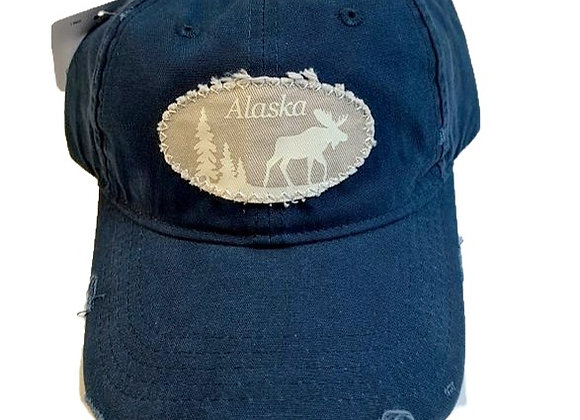 Worn Moose Baseball Hat