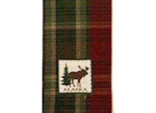 Moose Plaid Hand Towel