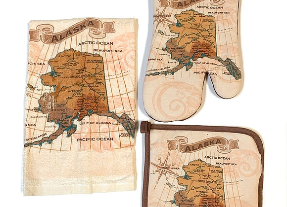 Vintage Map 3 piece set