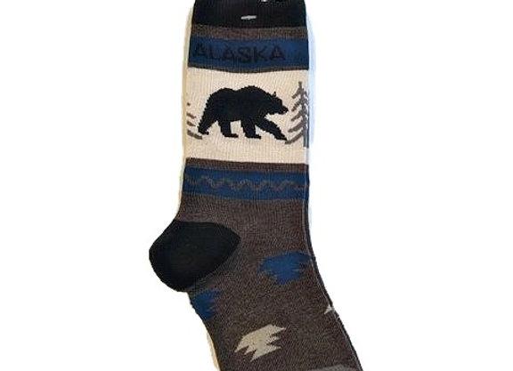 Unisex Mesa Black Bear Socks