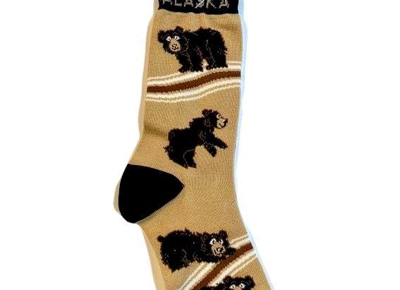 Unisex Black Bear Socks