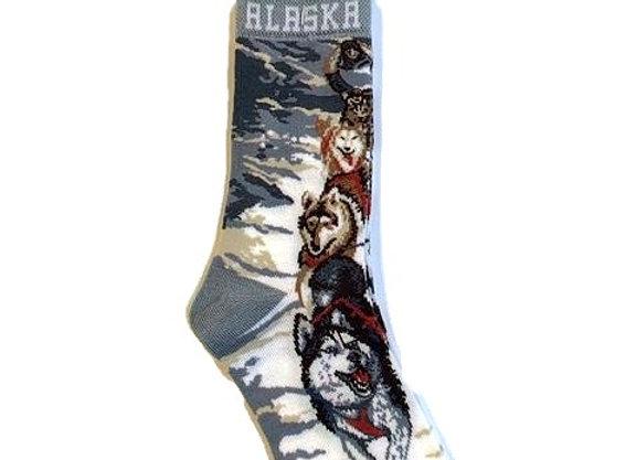 Unisex Vertical Dogsled Socks