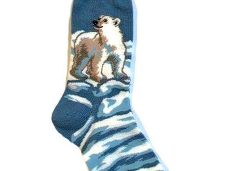 Polar Bear on Ice Socks