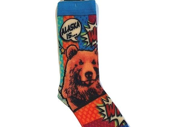 Comic Bear Socks