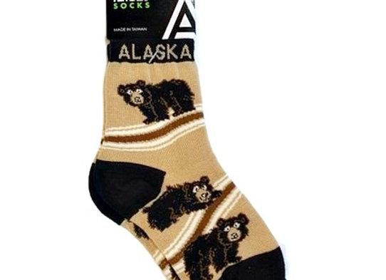 Black Bear Toddler Socks