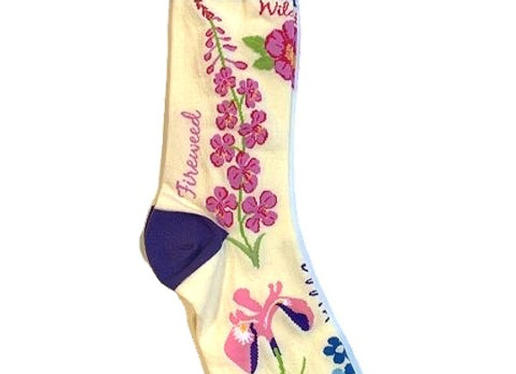Womens Wildflower Socks