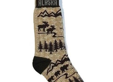 Tan Animals Youth Socks