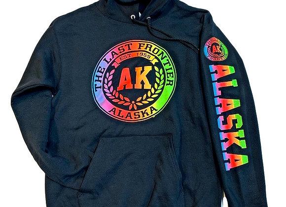 Black Neon AK Stamp Hoodie