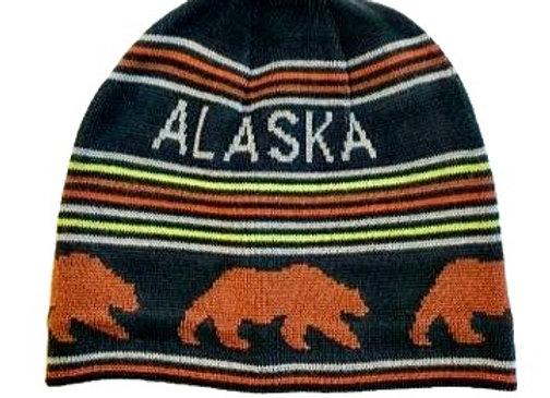 Brown Bear Knit Hat