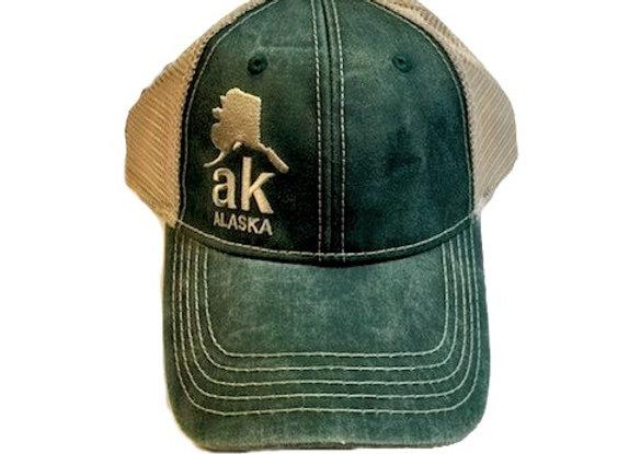 Green AK Map Hat
