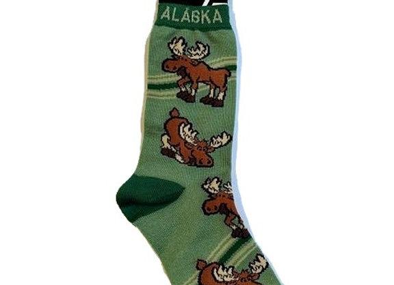Unisex Bottoms Up Moose Socks