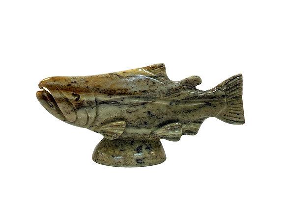Carved Soapstone Salmon