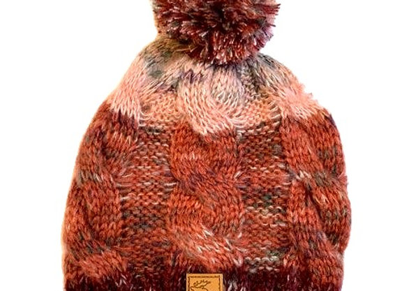 Ombre Moose Cable Knit Hat