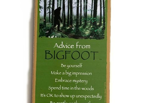Advice from Bigfoot Sign