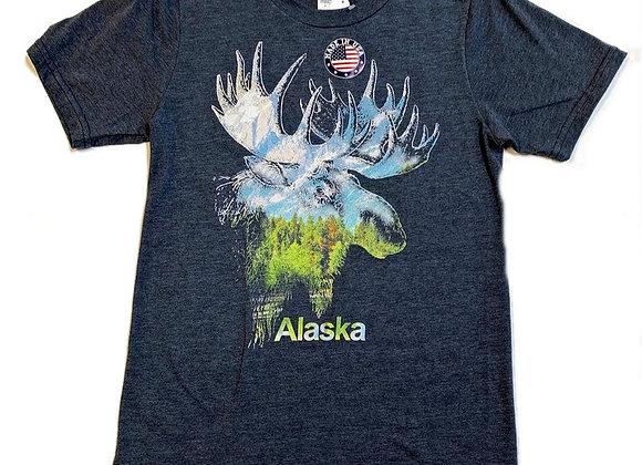 Moose Colored Scene T-Shirt