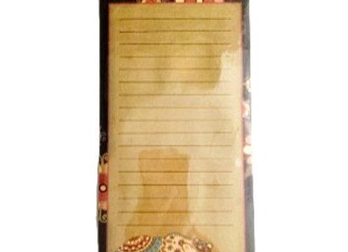 Paisley Bear Notepad