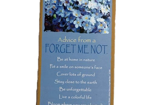 Advice from a Forget-Me-Not Sign