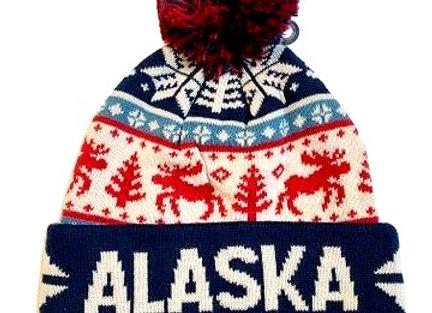 Snowflake Moose Knit Hat