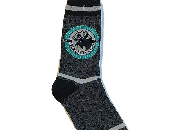 Unisex Moose Emblem Socks