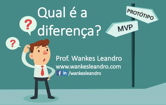 Artigo Qual é a diferença entre MVP e Protótipo - Prof Wankes Leandro, www.wankesleandro.com