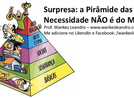 Surpresa: a Pirâmide das Necessidade NÃO é do Maslow