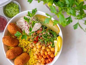 Jaffa Kibbih Rice Bowl