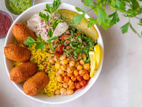Kibbih Rice Bowl