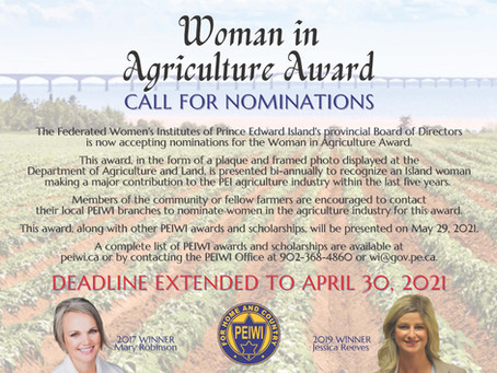 WI Woman in Agriculture Recognition Award - Now seeking nominations