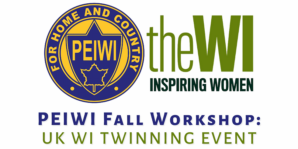 PEIWI Fall Workshop: UK WI Twinning Event