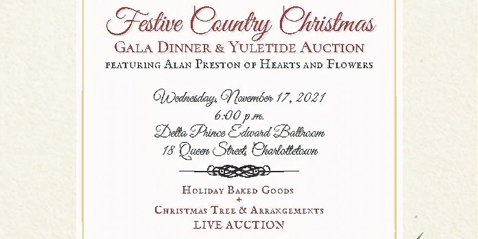 Festive Country Christmas Gala Dinner & Yuletide Auction