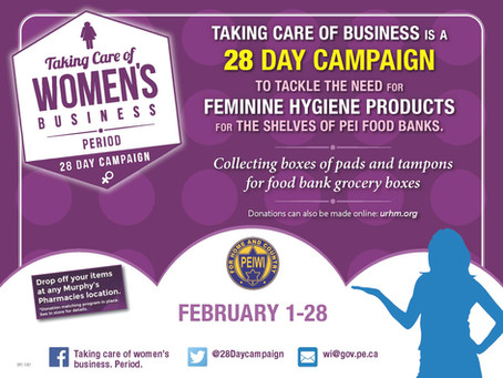 28 Day Campaign - February 1-28 Taking Care of Business. Period.
