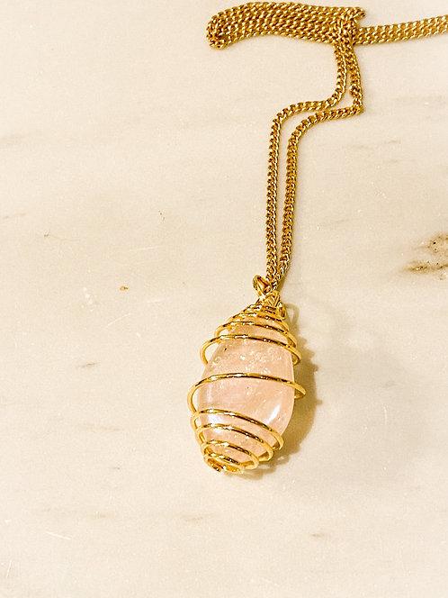 Aura rose quartz