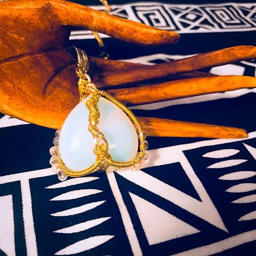Opalite heart necklace