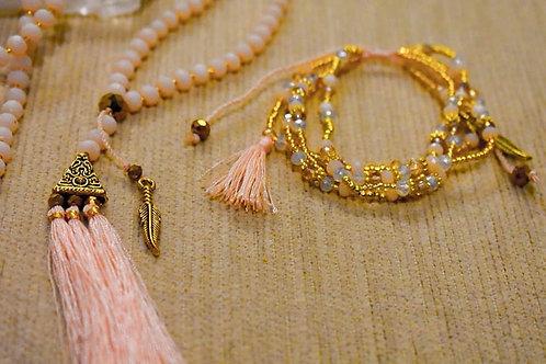 Mala beaded necklace and bracelet