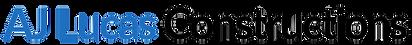 AJ Lucas Constructions logo - blue & bla