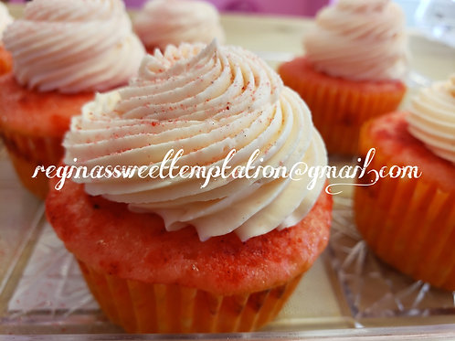 Strawberry watermelon cupcakes