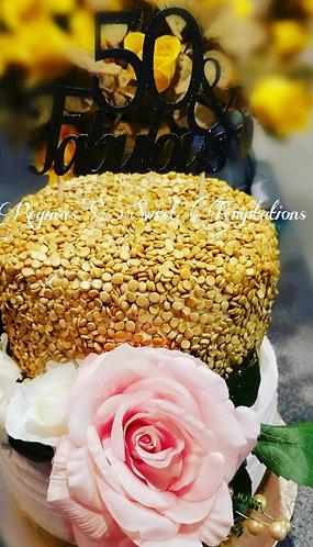 50th birthday cake,  vanilla