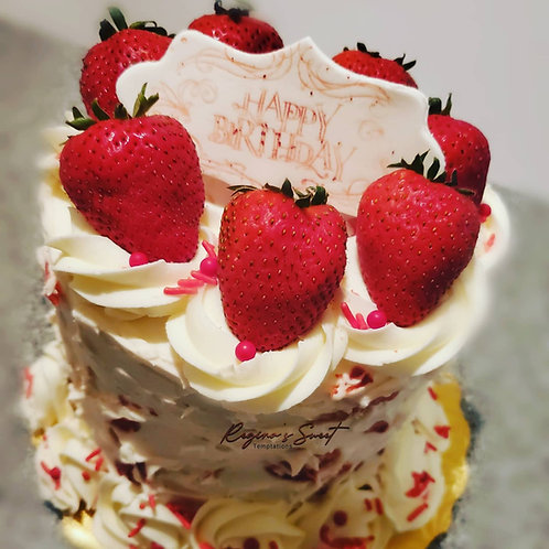 6 inch strawberry cake $35 and up