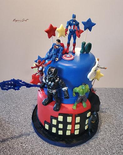 Marval superhero cake