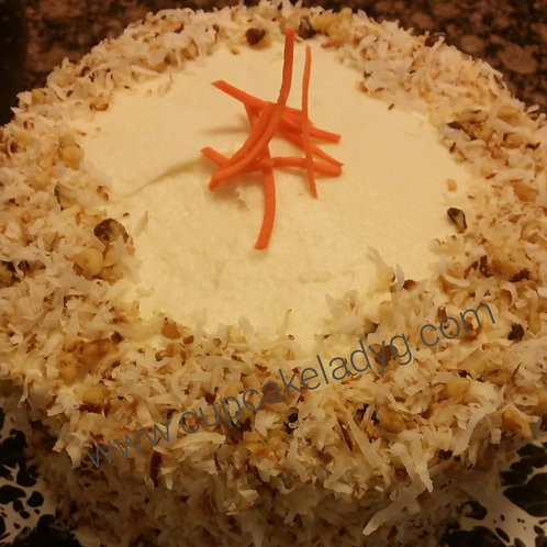 """10"""" Carrot cake with nuts"""