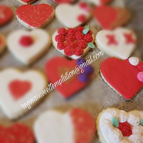 Valentine day cookies
