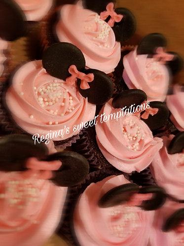 Mini mouse cupcakes