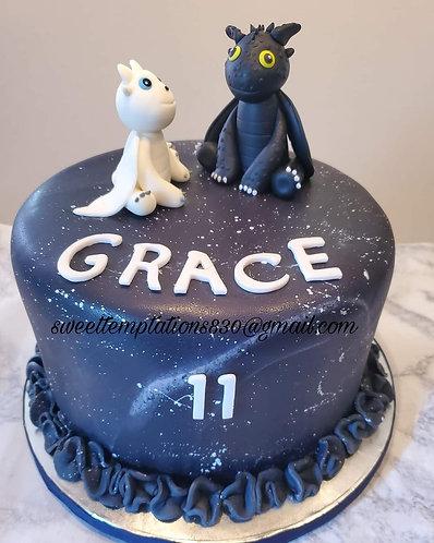 Galaxy vanilla cake